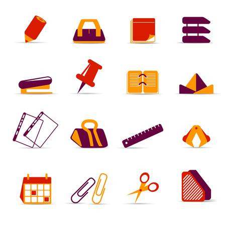 staplers: office accessories icons