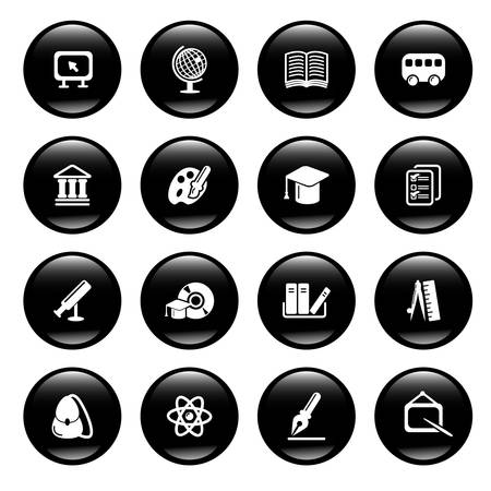 education icons Stock Vector - 6836485