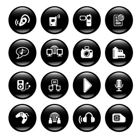 multimedia icons Stock Vector - 6836487