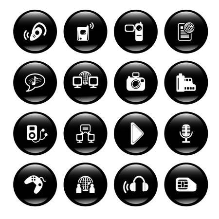 multimedia icons Stock Vector - 6836487