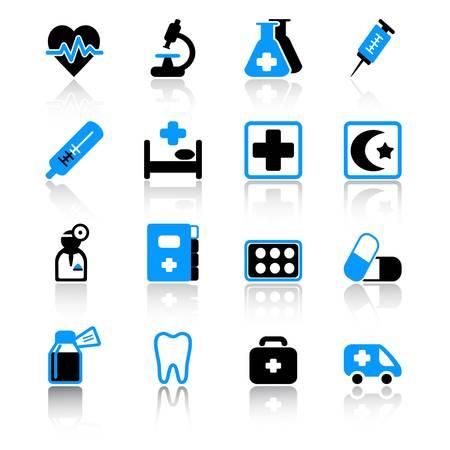 iconos medicos: iconos de m�dicos Vectores