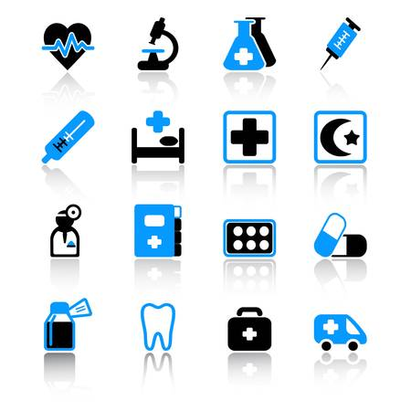 medical icons Stock Vector - 9895914