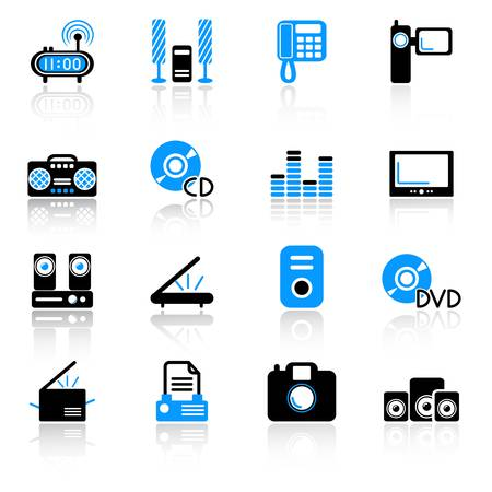 media icons Stock Vector - 10092568