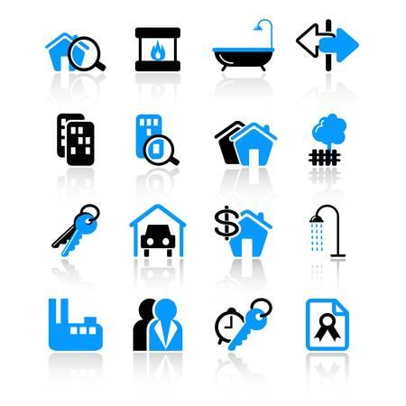 hospedaje: iconos de bienes ra�ces