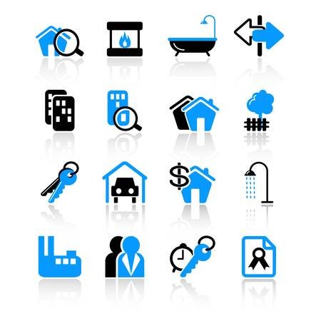 real estate icons Stock Vector - 10092565