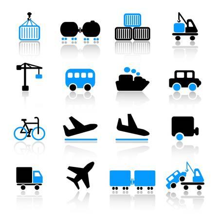camion grua: Iconos de transporte