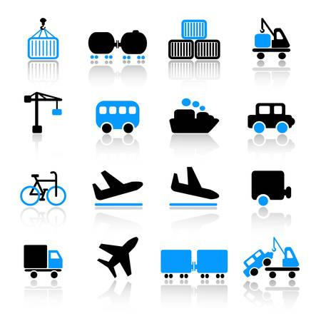 index card: Transport icons