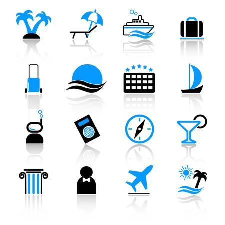 reservacion: Iconos de viajes