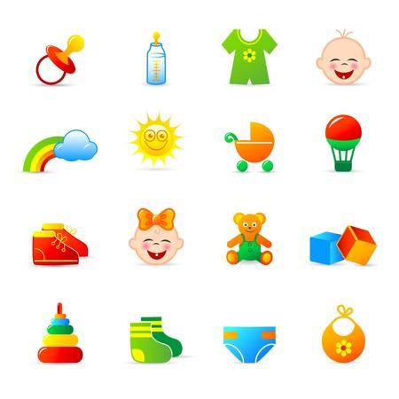 babero: ropa de bebé y los iconos de accesorios