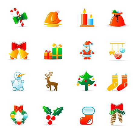 Christmas icons Stock Vector - 11454006