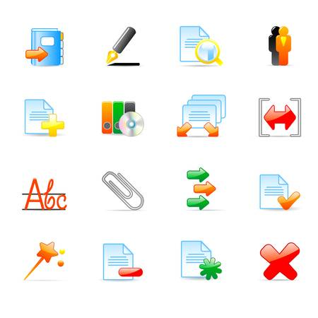 computer icons  Stock Vector - 11454007