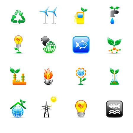 ecology concept icons  Stock Vector - 11454050