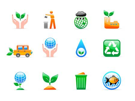 ecology icons Stock Vector - 11454018