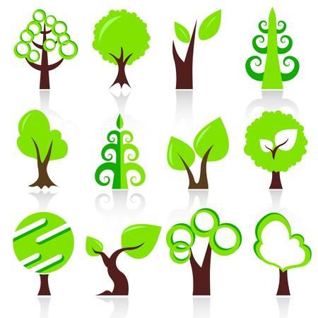 design tree set Stock Vector - 11454024