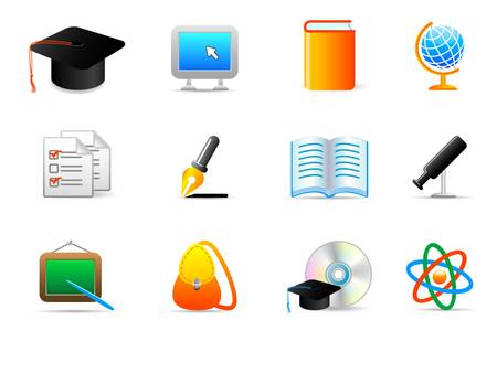 degree: education icons Illustration