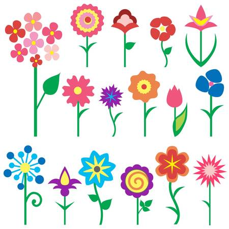 flower icons  Stock Vector - 11454013