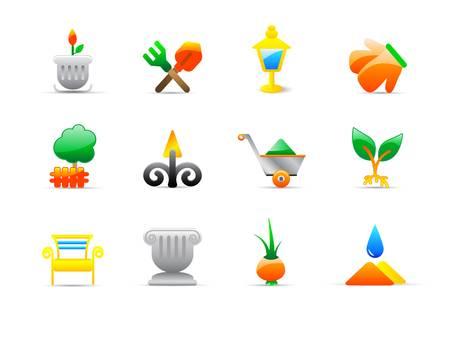 garden fountain: garden icons