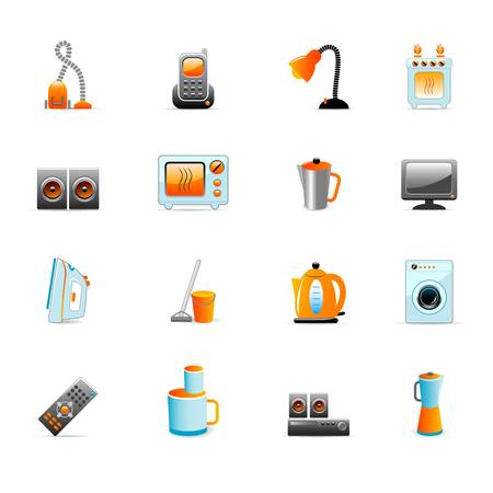 home equipment icons Vector Illustration