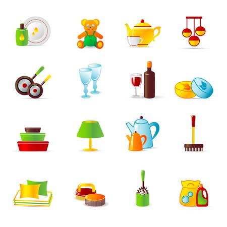 home work and equipment icons