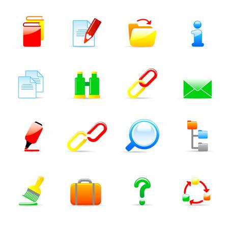 computer icons  Stock Vector - 11454060