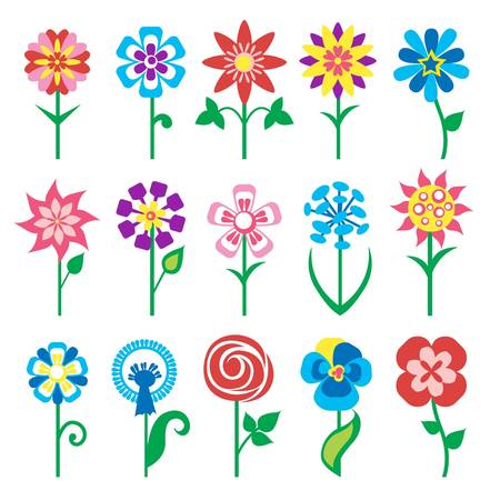 flowers icons Stock Vector - 11454056