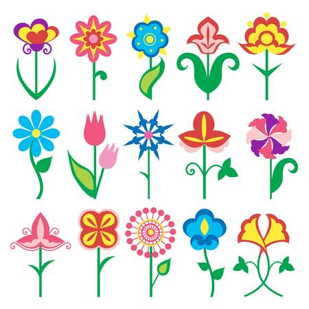 flowers icons Stock Vector - 11454064