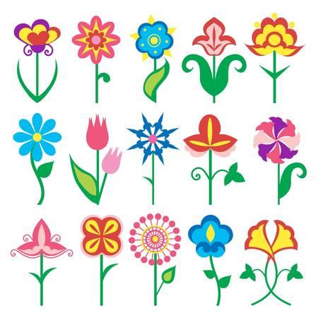 icônes fleurs