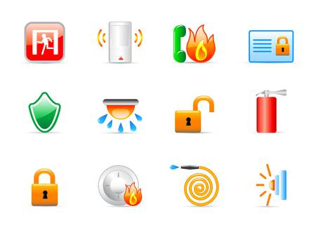 evacuatie: veiligheid icons