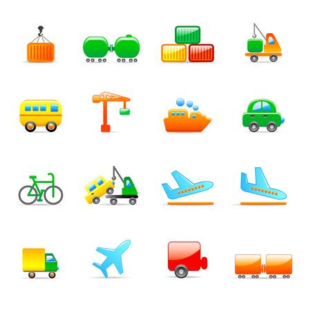 transport icons Stock Vector - 11454036