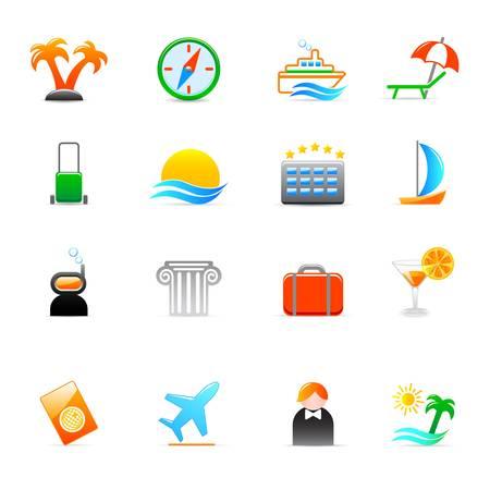 dive trip: travel icons