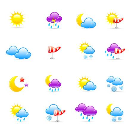 cloudy day: Weather icons Illustration