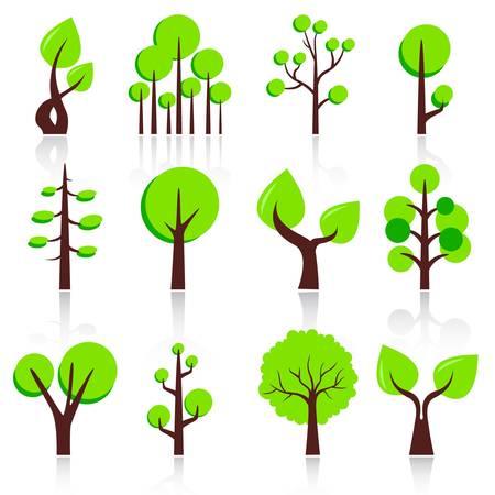 design tree set  Stock Vector - 11864309