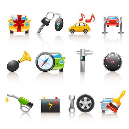 mekanik: ikoner bilverkstäder Illustration
