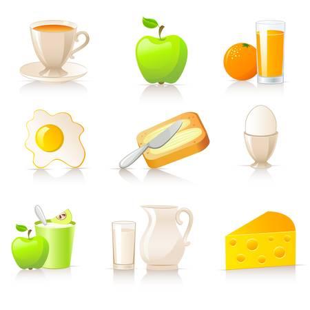pan con mantequilla: Desayuno colecci�n