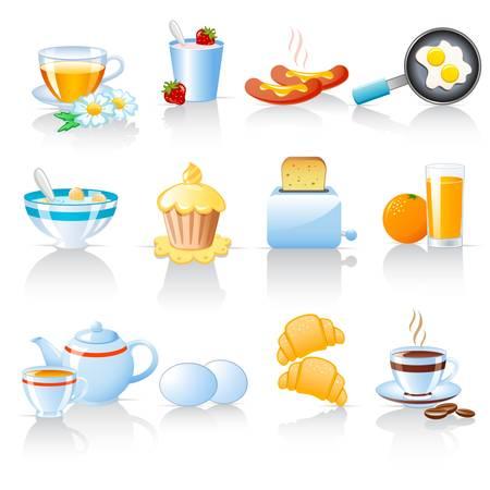 Ontbijt pictogrammen