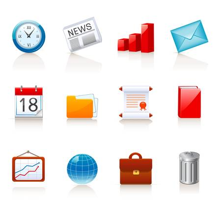 charter: business and office icons  Illustration
