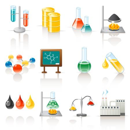 Chemical objects Stock Vector - 12029433