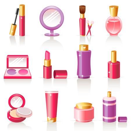 cosmetische iconen Stock Illustratie