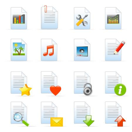 document icons Stock Vector - 12326741
