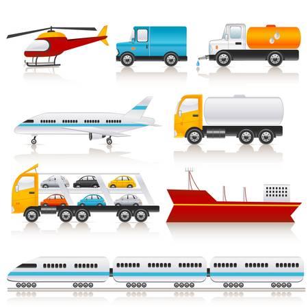 cami�n cisterna: iconos de transporte Vectores