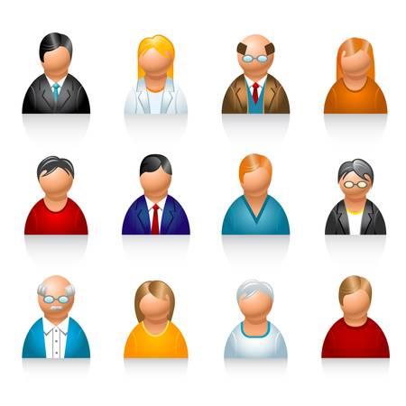 pensionado: iconos de usuario