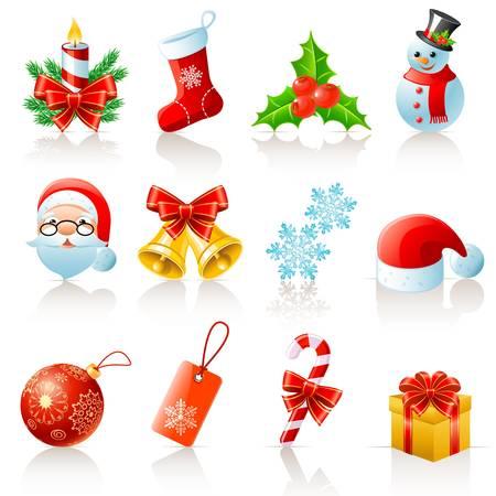 Christmas icons Stock Vector - 12326759