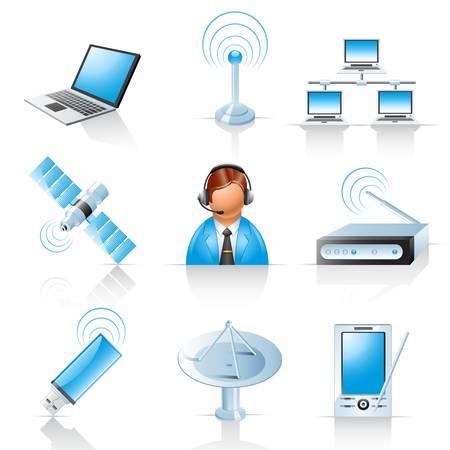 Communicatie iconen Stock Illustratie