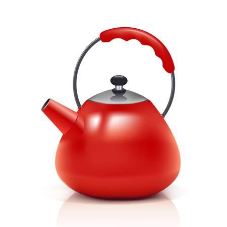 czerwony czajnik