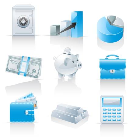 accumulation: Finance and banking icons  Illustration