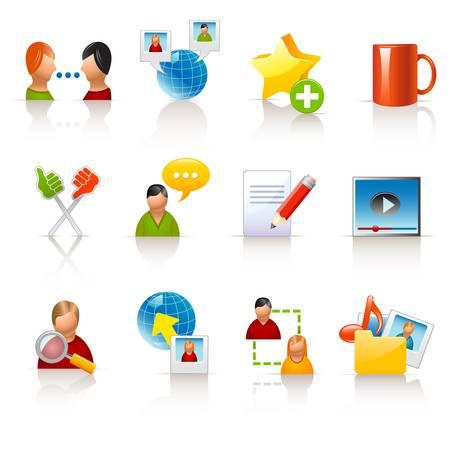 sociale media iconen Stock Illustratie