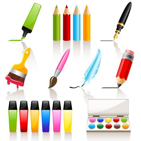 paint palette: Drawing and painting tools