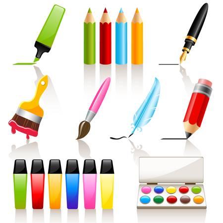 Tekenen en schilderen gereedschappen