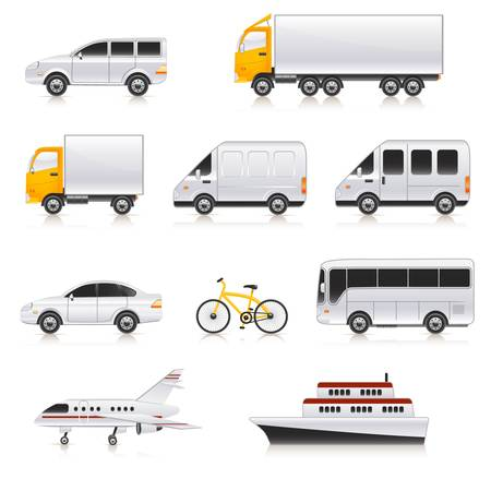refrigerated: transport icons