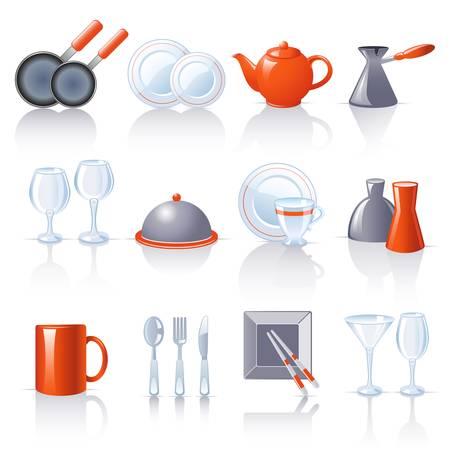 fryer: kitchen utensil icons